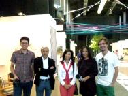 Virginia del Barco con el equipo de ideoarquitectura.TV con los arquitectos NIETO&SOBEJANO en la feria SUMMA FAIR ART