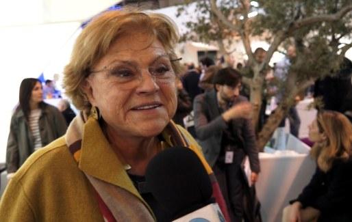La simpática Rosa Esteva (grupo tragaluz) habla con nosotros en ARCO 14