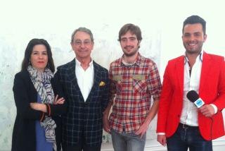 VIRGINIA DEL BARCO Y SU EQUIPO DE IDEOARQUITECTURA.tv CON NACHO VICENS EN SU ESTUDIO.