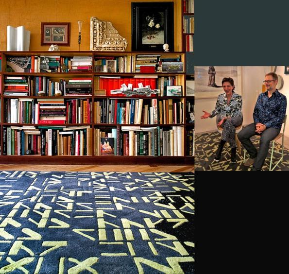 La alfombra ALPHABET diseñada por MONEO BRUCK STUDIO.